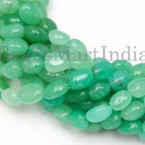 Shop Chrysoprase Chip & Nugget Beads! AAA Quality Chrysoprase Smooth Nuggets Beads, Chrysoprase Beads, Chrysoprase Smooth Nugget Beads, Natural Chrysoprase Beads, Chrysoprase | Natural genuine chip Chrysoprase beads for beading and jewelry making.  #jewelry #beads #beadedjewelry #diyjewelry #jewelrymaking #beadstore #beading #affiliate #ad
