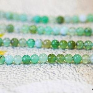 Shop Chrysoprase Round Beads! S / Australia Chrysoprase 4mm / 6mm Round Beads 15.5 Inches Long, Mixed Green And White Color Chrysoprase Beads, For All Jewelry Making | Natural genuine round Chrysoprase beads for beading and jewelry making.  #jewelry #beads #beadedjewelry #diyjewelry #jewelrymaking #beadstore #beading #affiliate #ad