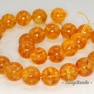 FREE USA Ship 14mm Citrine Quartz Gemstone Round Loose Beads 7 inch Half Strand LOT 1,2,6,12 and 50 (90144091-B16-528) | Natural genuine round Gemstone beads for beading and jewelry making.  #jewelry #beads #beadedjewelry #diyjewelry #jewelrymaking #beadstore #beading #affiliate #ad