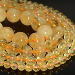 Genuine Natural Citrine Gemstone Grade AA 4mm 6mm 8mm 10mm Round Loose Beads Full Strand (A240) | Natural genuine round Gemstone beads for beading and jewelry making.  #jewelry #beads #beadedjewelry #diyjewelry #jewelrymaking #beadstore #beading #affiliate #ad