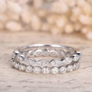 2pcs Diamonds Wedding Bands Twist Rope Ring Bezel Engagement Ring Marquise Diamond Ring 14k White Gold Twist Ring Bridal Ring Set 2pcs Rings | Natural genuine Gemstone rings, simple unique alternative gemstone engagement rings. #rings #jewelry #bridal #wedding #jewelryaccessories #engagementrings #weddingideas #affiliate #ad