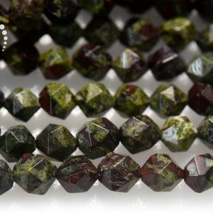 "Shop Jasper Chip & Nugget Beads! Dragon Blood Jasper Faceted Nugget Star Cut Beads, Diamond cut bead, Nugget beads, natural, gemstone, 6mm 8mm 10mm, 15"" full strand 