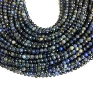 Shop Dumortierite Beads! Tiny Dumortierite Beads 2mm 3mm Smooth, Natural Small Dark Blue Gemstone Beads, Blackish Blue Beads, Delicate Nay Blue Beads for Jewelry | Natural genuine other-shape Dumortierite beads for beading and jewelry making.  #jewelry #beads #beadedjewelry #diyjewelry #jewelrymaking #beadstore #beading #affiliate #ad