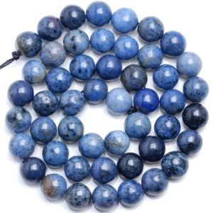 Shop Dumortierite Beads! 10 Strands 10mm South Africa Dumortierite Dark Blue Gemstone Blue Round Loose Beads 15 inch Full Strand (80005897-M31 x10) | Natural genuine round Dumortierite beads for beading and jewelry making.  #jewelry #beads #beadedjewelry #diyjewelry #jewelrymaking #beadstore #beading #affiliate #ad