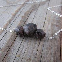 Raw Garnet Necklace, Big, Raw Gemstones, Rough Garnet Stones | Natural genuine Gemstone jewelry. Buy crystal jewelry, handmade handcrafted artisan jewelry for women.  Unique handmade gift ideas. #jewelry #beadedjewelry #beadedjewelry #gift #shopping #handmadejewelry #fashion #style #product #jewelry #affiliate #ad
