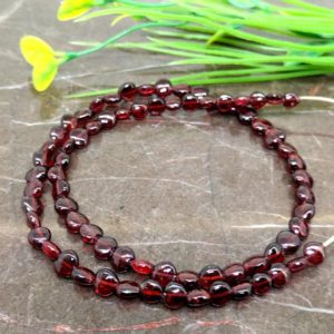 Shop Garnet Bead Shapes! Natural Garnet 6-8mm Smooth Heart Briolette Beads / Approx 68 pieces on 15 Inch long strand / JBC-ET-148989 | Natural genuine other-shape Garnet beads for beading and jewelry making.  #jewelry #beads #beadedjewelry #diyjewelry #jewelrymaking #beadstore #beading #affiliate #ad