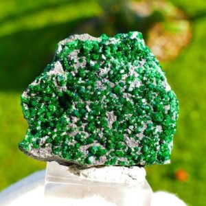 Shop Garnet Stones & Crystals! Uvarovite Garnet Crystal Cluster From Ural Mountains In Russia | Natural genuine stones & crystals in various shapes & sizes. Buy raw cut, tumbled, or polished gemstones for making jewelry or crystal healing energy vibration raising reiki stones. #crystals #gemstones #crystalhealing #crystalsandgemstones #energyhealing #affiliate #ad