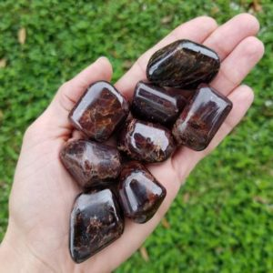 Large Garnet, Tumbled Garnet, Polished Garnet, Deep Red, Natural Stone | Natural genuine stones & crystals in various shapes & sizes. Buy raw cut, tumbled, or polished gemstones for making jewelry or crystal healing energy vibration raising reiki stones. #crystals #gemstones #crystalhealing #crystalsandgemstones #energyhealing #affiliate #ad