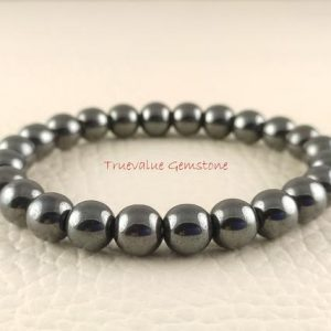 Shop Hematite Bracelets! Hematite Bracelet, Healing for Men & Women, Increase Willpower, Reliability, Increase Confidence, Protection, Gift for Men And Women 3293 | Natural genuine Hematite bracelets. Buy handcrafted artisan men's jewelry, gifts for men.  Unique handmade mens fashion accessories. #jewelry #beadedbracelets #beadedjewelry #shopping #gift #handmadejewelry #bracelets #affiliate #ad