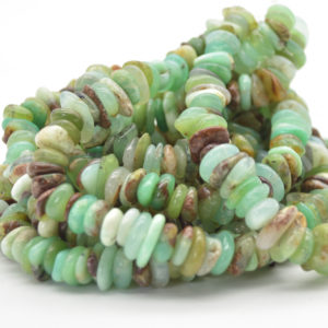 "Shop Chrysoprase Chip & Nugget Beads! High Quality Grade A Natural Australian Chrysoprase Semi-precious Gemstone Chunky Chips Nuggets Beads – 8mm-15mm x 1mm-6mm – 15.5"" strand 