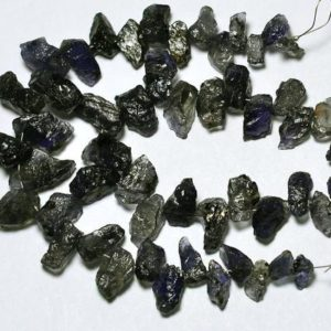 Shop Iolite Chip & Nugget Beads! 7 Inches Natural Iolite Rough Beads 5mm to 19mm Raw Gemstone Beads Rare Iolite Beads Semi Precious Beads No3382 | Natural genuine chip Iolite beads for beading and jewelry making.  #jewelry #beads #beadedjewelry #diyjewelry #jewelrymaking #beadstore #beading #affiliate #ad