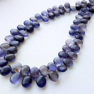 Shop Iolite Bead Shapes! 5x7mm Iolite Plain Pear Beads, Natural Iolite Pear Beads, Iolite Necklace, Iolite Pear Briolettes, Iolite For Jewelry (4in To 8in Options) | Natural genuine other-shape Iolite beads for beading and jewelry making.  #jewelry #beads #beadedjewelry #diyjewelry #jewelrymaking #beadstore #beading #affiliate #ad