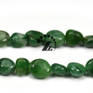 "Shop Jade Chip & Nugget Beads! African Jade, 15"" Full Strand Natural African Jade Beads, pebble Nugget Beads, beautiful Beads, 5-8mm 