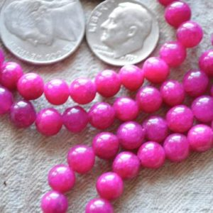Shop Jade Necklaces! Electric Pink Jade Handmade Mala Beads Necklace – Energized for Karma Nirvana Meditation 6 mm 108 Prayer Bead For Awakening Chakra Kundalini | Natural genuine Jade necklaces. Buy crystal jewelry, handmade handcrafted artisan jewelry for women.  Unique handmade gift ideas. #jewelry #beadednecklaces #beadedjewelry #gift #shopping #handmadejewelry #fashion #style #product #necklaces #affiliate #ad