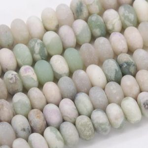 Shop Jade Rondelle Beads! Genuine Natural Matte Milky Green Jade Loose Beads Rondelle Shape 6x4MM | Natural genuine rondelle Jade beads for beading and jewelry making.  #jewelry #beads #beadedjewelry #diyjewelry #jewelrymaking #beadstore #beading #affiliate #ad