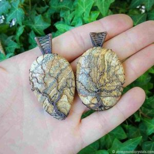 Shop Jasper Necklaces! Tree of life Landscape Jasper necklace, Jasper jewelry Anniversary gifts for wife gifts for grandma for mom gift for sister gift for women | Natural genuine Jasper necklaces. Buy crystal jewelry, handmade handcrafted artisan jewelry for women.  Unique handmade gift ideas. #jewelry #beadednecklaces #beadedjewelry #gift #shopping #handmadejewelry #fashion #style #product #necklaces #affiliate #ad