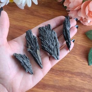 Shop Kyanite Stones & Crystals! Black Kyanite Fans, Raw Crystal Blades For Jewelry Making Or Crystal Grids | Natural genuine stones & crystals in various shapes & sizes. Buy raw cut, tumbled, or polished gemstones for making jewelry or crystal healing energy vibration raising reiki stones. #crystals #gemstones #crystalhealing #crystalsandgemstones #energyhealing #affiliate #ad