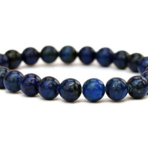 Shop Lapis Lazuli Bracelets! Lapis Lazuli Beaded Bracelet- 8mm Beads – Lapis Lazuli Beads – Crystal Bracelet – Beaded Bracelet – Lapis Lazuli Beads – Lapis Lazuli String | Natural genuine Lapis Lazuli bracelets. Buy crystal jewelry, handmade handcrafted artisan jewelry for women.  Unique handmade gift ideas. #jewelry #beadedbracelets #beadedjewelry #gift #shopping #handmadejewelry #fashion #style #product #bracelets #affiliate #ad