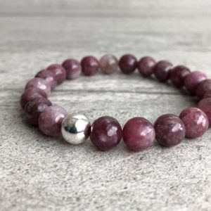 Shop Lepidolite Bracelets! Lepidolite Bracelet | Stackable Natural Crystal Bead Bracelet | Gold Or Silver Pink Lepidolite Jewelry | Men's, Women's Stretch Bracelet | Natural genuine Lepidolite bracelets. Buy crystal jewelry, handmade handcrafted artisan jewelry for women.  Unique handmade gift ideas. #jewelry #beadedbracelets #beadedjewelry #gift #shopping #handmadejewelry #fashion #style #product #bracelets #affiliate #ad