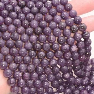 Free USA Ship Genuine Natural Purple Lepidolite Gemstone Grade AAA 4mm 6mm 8mm 10mm Round Loose Beads Full Strand (A223) | Natural genuine beads Gemstone beads for beading and jewelry making.  #jewelry #beads #beadedjewelry #diyjewelry #jewelrymaking #beadstore #beading #affiliate #ad