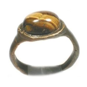 Shop Mahogany Obsidian Rings! Genuine Ancient Ad300 Roman Empire Epirus Albania Bronze Ring Size 5 Timeless With Antique 19thc Yemen Mahogany Obsidian Cabochon Gem #57483 | Natural genuine Mahogany Obsidian rings, simple unique handcrafted gemstone rings. #rings #jewelry #shopping #gift #handmade #fashion #style #affiliate #ad