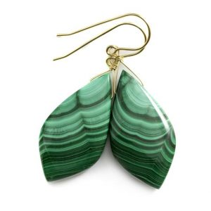 Shop Malachite Earrings! Malachite Earrings Green Large Smooth Natural Pear Drops Sterling Silver Or 14k Solid Yellow Gold Or Filled Simple 2 In Teardrops Classic | Natural genuine Malachite earrings. Buy crystal jewelry, handmade handcrafted artisan jewelry for women.  Unique handmade gift ideas. #jewelry #beadedearrings #beadedjewelry #gift #shopping #handmadejewelry #fashion #style #product #earrings #affiliate #ad