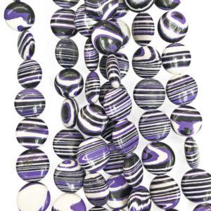 14mm Purple Malachite Coin Beads, Gemstone Beads, Wholesale Beads | Natural genuine other-shape Gemstone beads for beading and jewelry making.  #jewelry #beads #beadedjewelry #diyjewelry #jewelrymaking #beadstore #beading #affiliate #ad