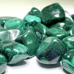 Shop Tumbled Crystals & Pocket Stones! Malachite Tumbled Stones | Natural genuine stones & crystals in various shapes & sizes. Buy raw cut, tumbled, or polished gemstones for making jewelry or crystal healing energy vibration raising reiki stones. #crystals #gemstones #crystalhealing #crystalsandgemstones #energyhealing #affiliate #ad
