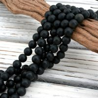 Matte Black Jade Round Beads 5-17.5mm (etb01405) Unique Jewelry / vintage Jewelry / gemstone Necklace | Natural genuine Gemstone jewelry. Buy crystal jewelry, handmade handcrafted artisan jewelry for women.  Unique handmade gift ideas. #jewelry #beadedjewelry #beadedjewelry #gift #shopping #handmadejewelry #fashion #style #product #jewelry #affiliate #ad