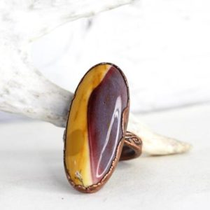 Shop Mookaite Rings! Mookaite Ring – Size 10 1/2 – Mookaite Jasper Cabochon – Colorful Stone – Natural Stone Ring | Natural genuine Mookaite rings, simple unique handcrafted gemstone rings. #rings #jewelry #shopping #gift #handmade #fashion #style #affiliate #ad
