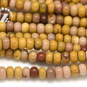 """Shop Mookaite Jasper Rondelle Beads! Mookaite Smooth Rondelle Spacer Beads, roundel Bead, abacus Bead, genuine Natural, diy Beads, 4x6mm 5x8mm 6x10mm For Choice, 15"""" Full Strand 