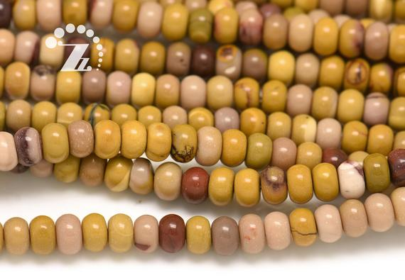 """Mookaite Smooth Rondelle Spacer Beads,roundel Bead,abacus Bead,genuine Natural,diy Beads,4x6mm 5x8mm 6x10mm For Choice,15"""" Full Strand"""