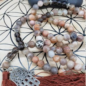 Shop Moonstone Necklaces! Divine Feminine Moonstone Mala – 108 Beads Mala – Meditation Beads – For Intuition – Feminine Moon Energy – Moon Goddess | Natural genuine Moonstone necklaces. Buy crystal jewelry, handmade handcrafted artisan jewelry for women.  Unique handmade gift ideas. #jewelry #beadednecklaces #beadedjewelry #gift #shopping #handmadejewelry #fashion #style #product #necklaces #affiliate #ad