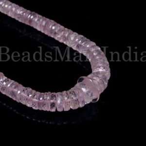 Shop Morganite Faceted Beads! Morganite Faceted Tyre Shape Gemstone Beads, Morganite Faceted Beads, Morganite Tyre Shape Beads, Morganite Beads, Natural Morganite Beads | Natural genuine faceted Morganite beads for beading and jewelry making.  #jewelry #beads #beadedjewelry #diyjewelry #jewelrymaking #beadstore #beading #affiliate #ad