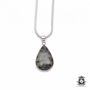 Shop Moss Agate Pendants! Moss Agate Fine 925 975 Sterling Silver Pendant 4MM Italian Chain P6339 | Natural genuine Moss Agate pendants. Buy crystal jewelry, handmade handcrafted artisan jewelry for women.  Unique handmade gift ideas. #jewelry #beadedpendants #beadedjewelry #gift #shopping #handmadejewelry #fashion #style #product #pendants #affiliate #ad