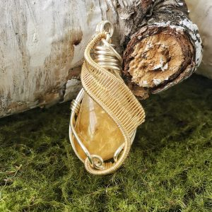 Natural Citrine Pendant, Wire Wrapped Pendant, November Birthstone Necklace, Birthstone Necklace for Mom | Natural genuine Gemstone jewelry. Buy crystal jewelry, handmade handcrafted artisan jewelry for women.  Unique handmade gift ideas. #jewelry #beadedjewelry #beadedjewelry #gift #shopping #handmadejewelry #fashion #style #product #jewelry #affiliate #ad