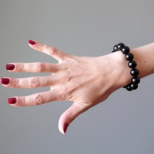 Shop Obsidian Bracelets! Black Obsidian Bracelet Pure Protection Stone Negative Energy Healing Crystal | Natural genuine Obsidian bracelets. Buy crystal jewelry, handmade handcrafted artisan jewelry for women.  Unique handmade gift ideas. #jewelry #beadedbracelets #beadedjewelry #gift #shopping #handmadejewelry #fashion #style #product #bracelets #affiliate #ad