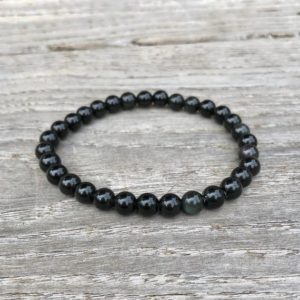 Shop Obsidian Bracelets! Obsidian Bracelet Black Obsidian Stretch Bracelet 6mm Obsidian Bracelet Protection Bracelet Depression Bracelet | Natural genuine Obsidian bracelets. Buy crystal jewelry, handmade handcrafted artisan jewelry for women.  Unique handmade gift ideas. #jewelry #beadedbracelets #beadedjewelry #gift #shopping #handmadejewelry #fashion #style #product #bracelets #affiliate #ad