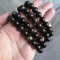 Sheen Obsidian 10 Mm Round Bracelet Stretchy String G72 | Natural genuine Gemstone jewelry. Buy crystal jewelry, handmade handcrafted artisan jewelry for women.  Unique handmade gift ideas. #jewelry #beadedjewelry #beadedjewelry #gift #shopping #handmadejewelry #fashion #style #product #jewelry #affiliate #ad