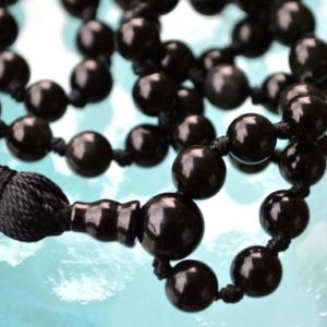 Shop Onyx Necklaces! 6mm 8 mm 10 mm 12 mm Black Onyx Mala Beads Necklace, Onyx Mala, 108 Knotted Onyx Tassel Mala Beads Necklace for Emotional,Physical Strength | Natural genuine Onyx necklaces. Buy crystal jewelry, handmade handcrafted artisan jewelry for women.  Unique handmade gift ideas. #jewelry #beadednecklaces #beadedjewelry #gift #shopping #handmadejewelry #fashion #style #product #necklaces #affiliate #ad