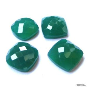 Shop Onyx Shapes! 14mm Green Onyx Faceted Cushion Checker Flat Loose Gemstone, Good Quality, Green Onyx Cushion Faceted Checker Cut Flat Bottom Loose Gemstone | Natural genuine stones & crystals in various shapes & sizes. Buy raw cut, tumbled, or polished gemstones for making jewelry or crystal healing energy vibration raising reiki stones. #crystals #gemstones #crystalhealing #crystalsandgemstones #energyhealing #affiliate #ad