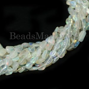 Shop Opal Chip & Nugget Beads! Ethiopian Opal Plain Nugget Good Quality Beads, Ethiopian Opal Beads, Ethiopian Opal Smooth Beads, Ethiopian Opal Nugget Beads, Opal Beads | Natural genuine chip Opal beads for beading and jewelry making.  #jewelry #beads #beadedjewelry #diyjewelry #jewelrymaking #beadstore #beading #affiliate #ad