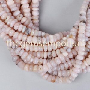 Shop Opal Rondelle Beads! Pink Opal Plain Smooth Rondelle Shape Beads,Pink Opal Silver Wash Gemstone Beads,Pink Opal Plain Smooth Beads,Pink Opal Rondelle Shape Beads | Natural genuine rondelle Opal beads for beading and jewelry making.  #jewelry #beads #beadedjewelry #diyjewelry #jewelrymaking #beadstore #beading #affiliate #ad