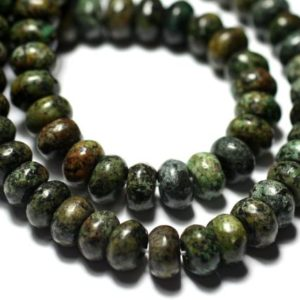 Shop Pearl Rondelle Beads! Wire 39cm 100pc Env – Stone Pearls – Turquoise Africa Rondelles 6x4mm | Natural genuine rondelle Pearl beads for beading and jewelry making.  #jewelry #beads #beadedjewelry #diyjewelry #jewelrymaking #beadstore #beading #affiliate #ad
