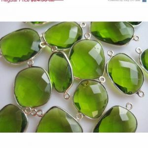 Shop Peridot Stones & Crystals! 4 Pieces 16mm To 20mm Each Peridot Green Quartz Rose Cut Flat Loose Cabochons Bezel Connectors FF36 | Natural genuine stones & crystals in various shapes & sizes. Buy raw cut, tumbled, or polished gemstones for making jewelry or crystal healing energy vibration raising reiki stones. #crystals #gemstones #crystalhealing #crystalsandgemstones #energyhealing #affiliate #ad
