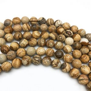 Shop Picture Jasper Faceted Beads! 8mm Faceted Picture Jasper Beads, Round Gemstone Beads, Wholesale Beads | Natural genuine faceted Picture Jasper beads for beading and jewelry making.  #jewelry #beads #beadedjewelry #diyjewelry #jewelrymaking #beadstore #beading #affiliate #ad