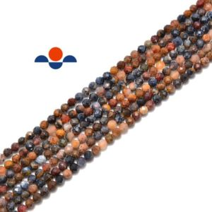 """Shop Pietersite Beads! Pietersite Faceted Round Beads 2mm 3mm 15.5"""" Strand 