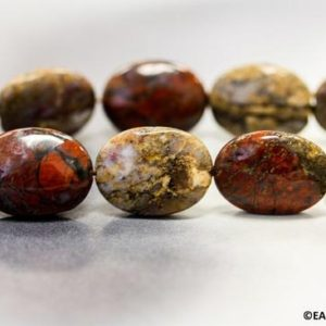 """Shop Pietersite Beads! L/ Pietersite 15x20mm Flat Oval Loose beads 15.5"""" strand Natural Unique Pattern Jasper beads for jewelry making 