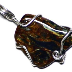 Shop Pietersite Pendants! Natural Pietersite Jewelry, Silky Pietersite Pendant, Namibian Pietersite In Sterling Silver, Red And Yellow Gem, Real Pietersite Jewelry | Natural genuine Pietersite pendants. Buy crystal jewelry, handmade handcrafted artisan jewelry for women.  Unique handmade gift ideas. #jewelry #beadedpendants #beadedjewelry #gift #shopping #handmadejewelry #fashion #style #product #pendants #affiliate #ad