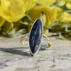 Shop Pietersite Rings! Pietersite Silver Ring, 925 Silver Jewelry, Pietersite Jewelry, Boho Ring, Split Band Ring, Statement Ring, Casual Wear, Christmas Ring, Mom | Natural genuine Pietersite rings, simple unique handcrafted gemstone rings. #rings #jewelry #shopping #gift #handmade #fashion #style #affiliate #ad